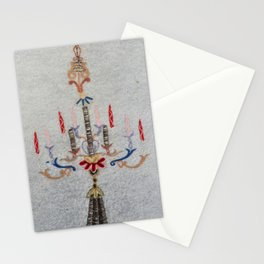 Ottoman Antique Embroidery Prayer Rug Print Stationery Cards