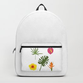 Jungle / Tropical Pattern in white Backpack