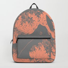 The Great Wave Peach & Gray Backpack