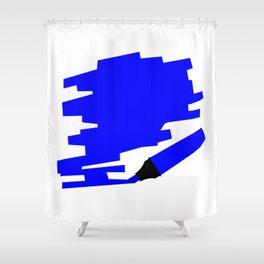 Dark Blue Marker Copy Space Shower Curtain