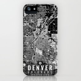 Denver Colorado Map Art iPhone Case