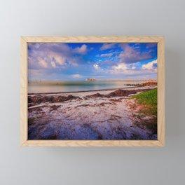 City Pier on Anna Maria Island Framed Mini Art Print