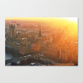 Sunsets over London Town Canvas Print