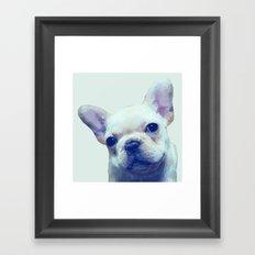 French Bulldog Geometric Framed Art Print