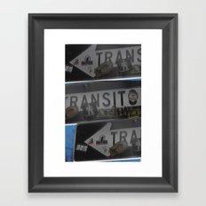 trans trans transito Framed Art Print