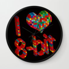 i heart 8-bit Wall Clock