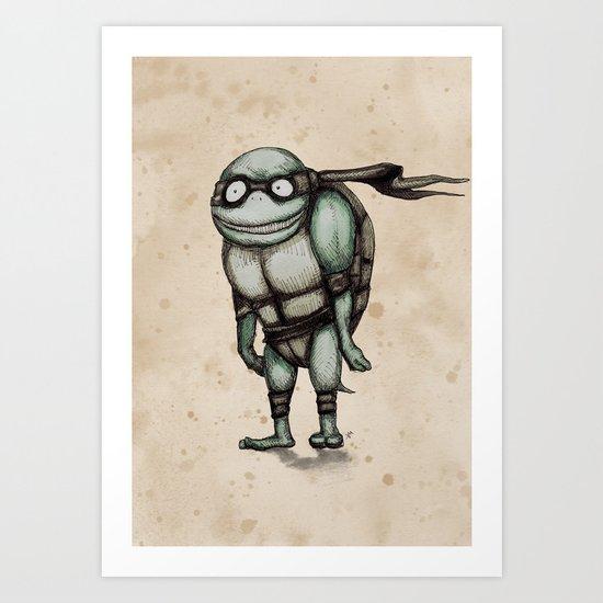 Teenage Mutant Burton Turtle Art Print
