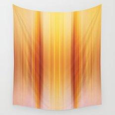 Golden Pillars Wall Tapestry