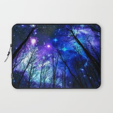 black trees purple blue space Laptop Sleeve