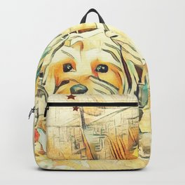 Penny and Copper Yorkie Mixes Backpack