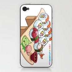 Kawaii California Roll and Sushi Shrimp and Tuna Nigiri iPhone & iPod Skin