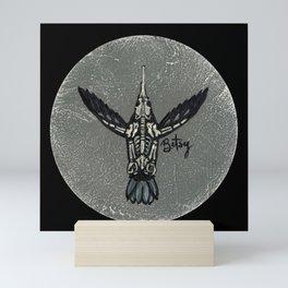 Hummingbird Skeleton: Skeletal Anatomy, Position 6 Mini Art Print