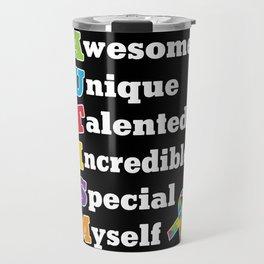 Autism Acronym Travel Mug