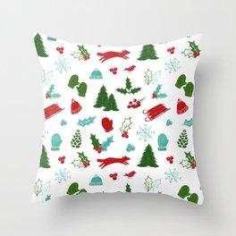 Winter Wonderland - Blue Throw Pillow
