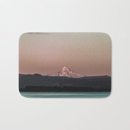 Pastel Peak - Mt. Hood over the Columbia Bath Mat