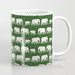 elephant march - green Coffee Mug