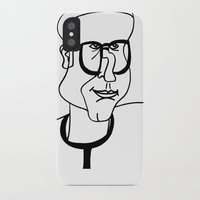 dad iPhone & iPod Cases featuring Dad by EllaG