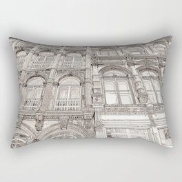 Facades - line art Rectangular Pillow