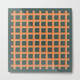 Orange Net Metal Print