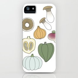 Vegetables (color) iPhone Case