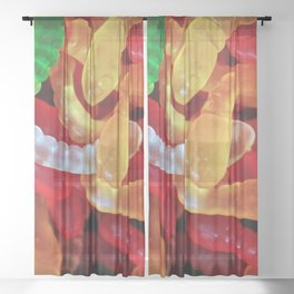 Gummi Worms Sheer Curtain