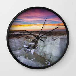 The Painted Mines Wall Clock