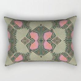 Sun Palm Art Deco Jade Rectangular Pillow