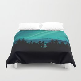 Magic in the Woods - Turquoise Duvet Cover