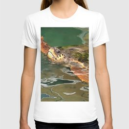 Hands Up For A Plastic Free Ocean Loggerhead Turtle T-shirt