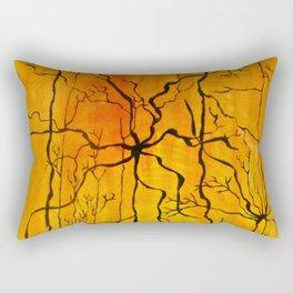 Neural Activity (An Ode to Cajal) Rectangular Pillow