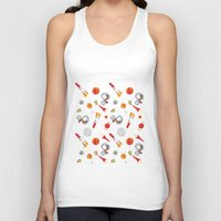 snoopy Tank Tops featuring Snoopy Space by Yildiray Atas