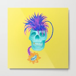 Rad cool skull Metal Print