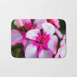 Dewey Geraniums Bath Mat