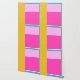 Geometric Bauhaus Style Color Block in Bright Colors Wallpaper