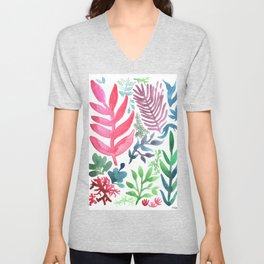 Red Laurels Unisex V-Neck