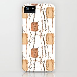 Winter branches and golden bricks iPhone Case