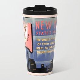 New York state flower vintage greetings from Travel Mug