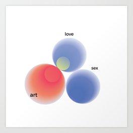 Love, art, sex Art Print