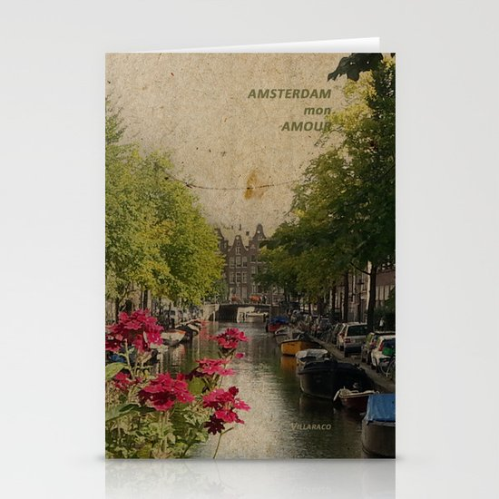 Amsterdam mon amour Stationery Cards