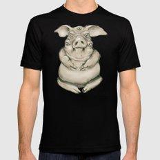 Piggy Mens Fitted Tee MEDIUM Black