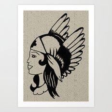 Angel of Mercy, Traditional American Tattoo Design Art Print