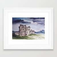 monty python Framed Art Prints featuring Doune Castle, Perthshire, Scotland. Outlander. Monty Python. Version 1 (No text title) by JVB 2014