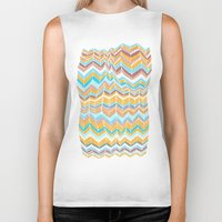 blanket Biker Tanks featuring Grandma's blanket by Tonya Doughty