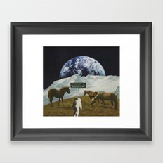 Black Hole Framed Art Print