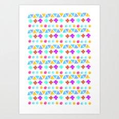 Retro pattern pencil  Art Print