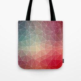 Abstract Geometric Triangulated Design Tote Bag