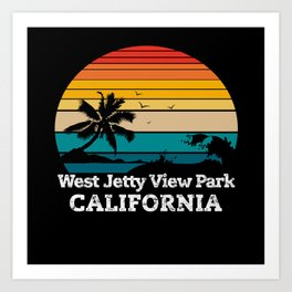 West Jetty View Park CALIFORNIA Art Print