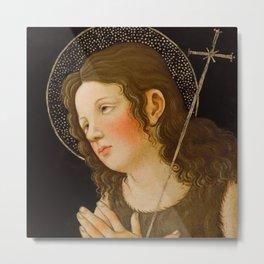 "Alessandro Botticelli ""Christ with Saint John the Baptist"" detail 1. Metal Print"