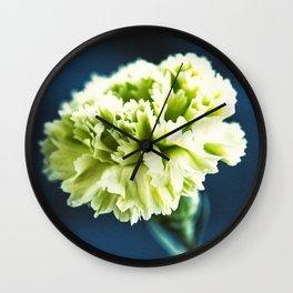 Green Carnation Wall Clock