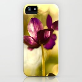 Glowing Purple Flower #decor #buyart #society6 iPhone Case